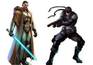 Solid Snake and JK