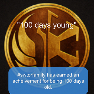 SWTORFamily 100 days