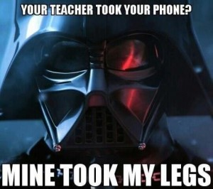 Vader being pissy