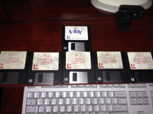 ChazLobo - X-Wing on 3.5 inch floppies
