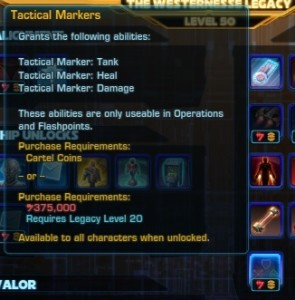 Tactical markers legacy unlock