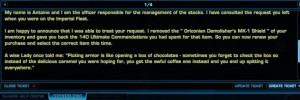 Cool SWTOR customer service