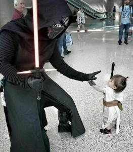 Princess Leia meets Darth Vader