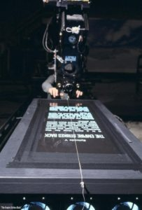 Filming the opening crawl