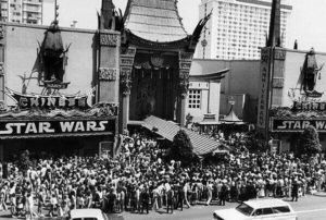 SW opening at Mann's Theater 1977